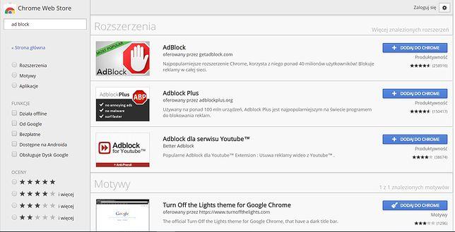 Adblock dzieli i rządzi w segmencie wtyczek blokujących reklamy