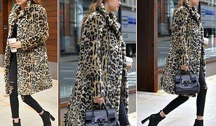 LOOK OF THE DAY: Gigi Hadid w panterkowym płaszczu