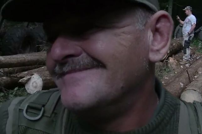 Strażnik leśny nie krył zadowolenia z akcji kolegów
