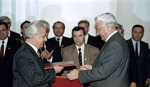 Leonid Krawczuk i Borys Jelcyn