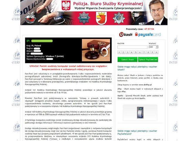 Uwaga! Wirus z twarzą Bronisława Komorowskiego blokuje komputery