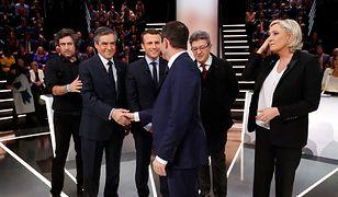 Kandydaci na prezydenta Francji podczas telewizyjnej debaty