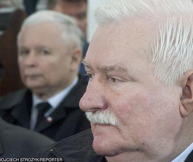 Lech Wałęsa i Jarosław Kaczyński na pogrzebie Tadeusza Gocłowskiego, maj 2016 r.
