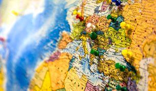 mapa, europa, świat, kraje