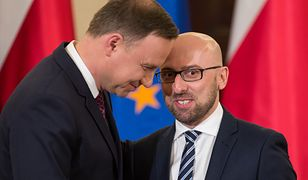 Prezydent Andrzej Duda i Krzysztof Łapiński