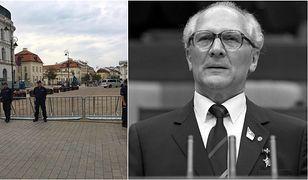 Porównanie ulic Warszawy w czasie ostatniej miesięcznicy oraz ulic Berlina za czasów Muru Berlińskiego.