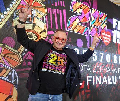Jerzy Owsiak po konferencji podsumowującej 25. Finał WOŚP.