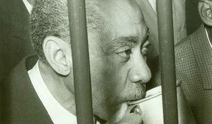 Sajid Kutb, jeden z liderów Bractwa Muzułmańskiego, główny ideolog ekstremizmu islamskiego, 1966 r.
