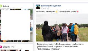 Wpis na Facebooku Daniela Pieczychlebka