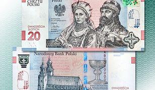 Mieszko I i Dobrawa na banknocie 20 zł. NBP upamiętnia 1050. rocznicę chrztu Polski