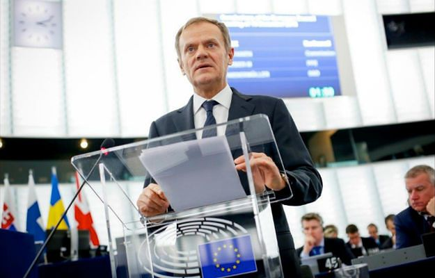 Donald Tusk w Parlamencie Europejskim