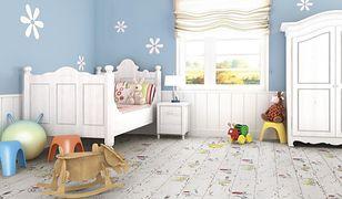 Aranżacja pokoju dziecięcego: podłoga w bajeczne wzory
