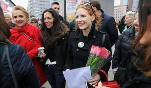 Jessica Chastain protestuje razem z Polkami