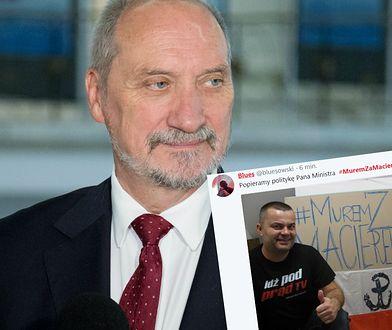 Internauci popierający Antoniego Macierewicza publikują zdjęcia z hasztagiem #MuremZaMacierewiczem