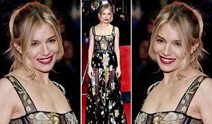 LOOK OF THE DAY: Sienna Miller w przezroczystościach Christiana Diora
