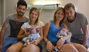 Bliźniaczki urodziły swoje dzieci w tym samym momencie
