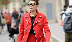 STREET STYLE: Total look! Giovanna Battaglia w hipnotyzującej czerwieni