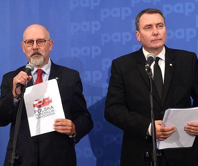 Prezes zarządu PFN Cezary Jurkiewicz oraz członek zarządu Maciej Świrski