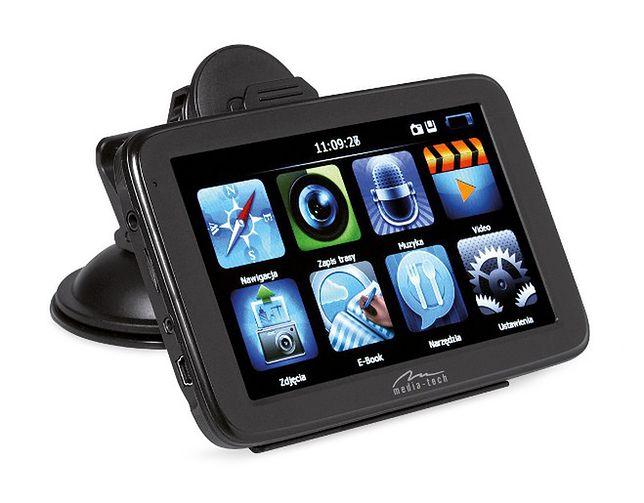 Nawigacja GPS z wbudowaną kamerą i rejestratorem jazdy: Media-Tech MT5034