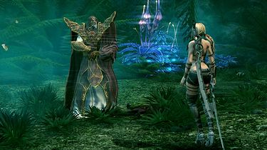 Blondynka i dwa nagie miecze - galeria z Blades of Time