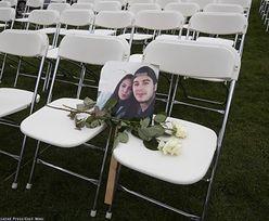 Katastrofa lotu MH17. Protest bliskich ofiar przed rosyjską ambasadą