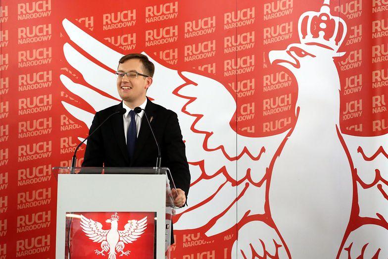 Robert Winnicki, poseł niezrzeszony, polityk Ruchu Narodowego.