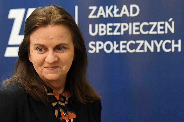 Prezes ZUS, Gertruda Uścińska zapewnia, że prawo do świadczeń i ciągłość ubezpieczenia będą zachowane