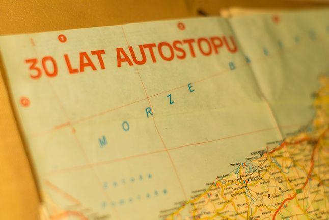 Samochodowa mapa Polski z 1987 roku