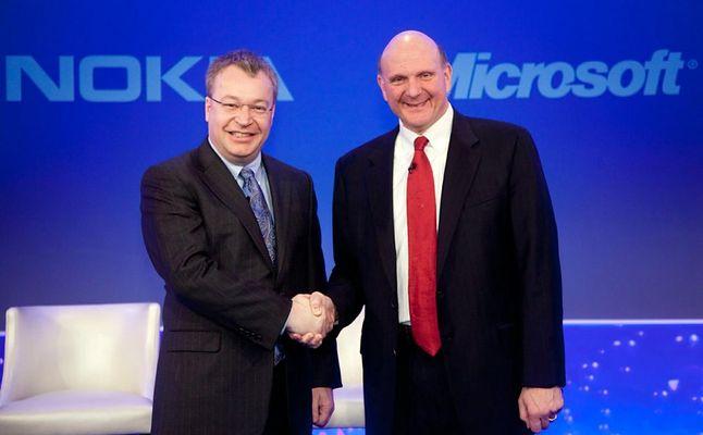 Stephen Elop oraz były dyrektor generalny Microsoftu Steve Ballmer
