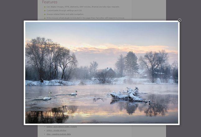 Przykład użycia skryptu FancyBox do wyświetlania zdjęć