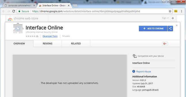 Zainstaluj więc moduł ochronny z Chrome Web Store