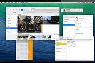 Mac OS X płaska koncepcja