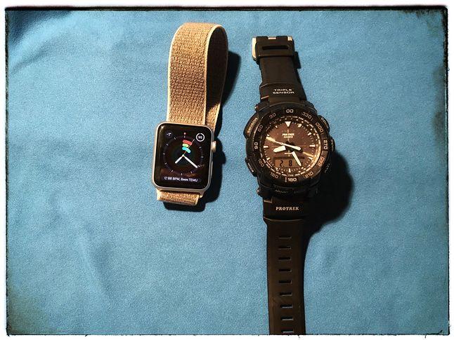 Choć Apple Watch jest dość odporny w czasie codziennego użytkowania, z pewnością konkurencji Casio G-Shock lub Protrek nie wygra.