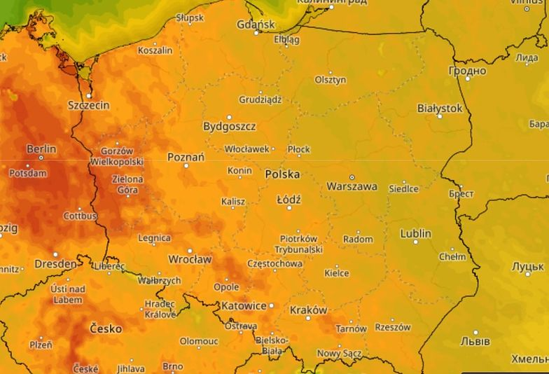 Pogoda. Zachód kraju rozgrzany do czerwoności. Nadchodzi upał