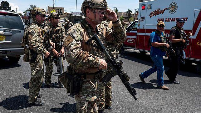 Strzelanina w El Paso zmobilizowała do akcji wszystkie amerykańskie służby, w tym wojsko, fot. East News