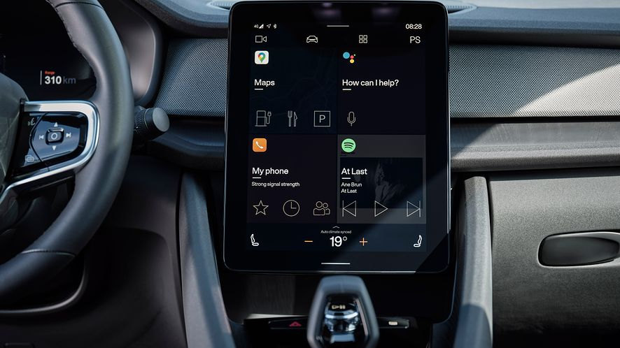 Android Automotive w Polestar 2, fot. materiały prasowe Polestar