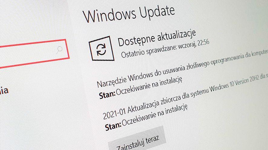 Windows 10 otrzymał pierwsze zbiorcze aktualizacje w roku, fot. Oskar Ziomek