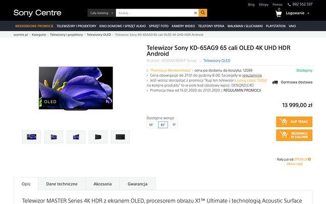 Dla miłośników sprzętu Sony to dobre miejsce na zakupy