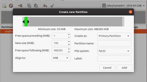 Szyfrowanie systemu przy instalacji Ubuntu (własny podział partycji; bez czyszczenia dysku)