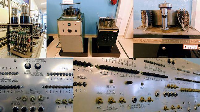 W górnym rzędzie moduł z lampami oraz bęben magnetyczny.