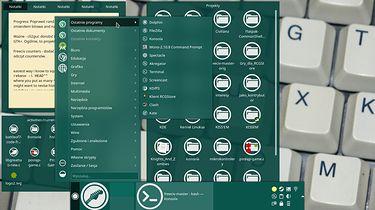 Co mi w OpenSUSE się podoba - Aktywność do programowania z wysuniętym menu (proszę zwrócić uwagę na lewy dok paska programów)