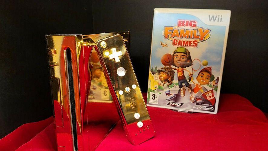 Złota konsola Nintendo Wii