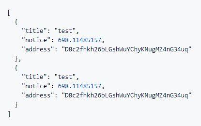 """Przykładowa """"baza danych"""" z dwoma portfelami."""