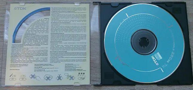 Płyta CD-R z 2001 roku