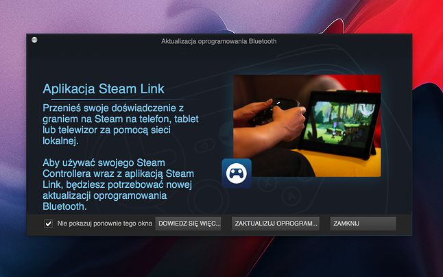 Użytkowników Steam Controllera przywitał dziś taki komunikat