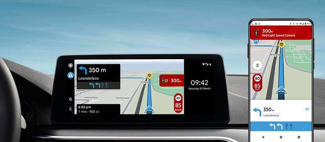 AmiGO w Android Auto, fot. materiały prasowe TomTom.