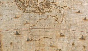 Fragment mapy Australii z XVII wieku.