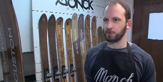 Był instruktorem narciarstwa. Teraz jego narty podbijają świat