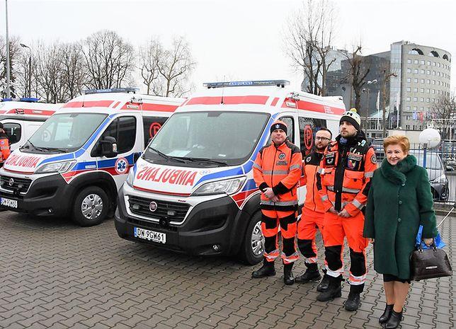 W spotkaniu z ratownikami uczestniczyła członek zarządu woj. mazowieckiego Elżbieta Lanc