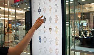 Terminal zakupowy w butiku Swiss